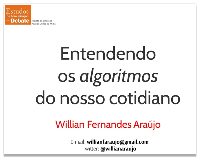Entendendo os algoritmos do nosso cotidiano
